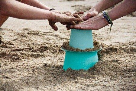 QUUT Zestaw 3 foremek do piasku Wieża Alto Lagoon Green + Vintage Blue + Mighty Orange