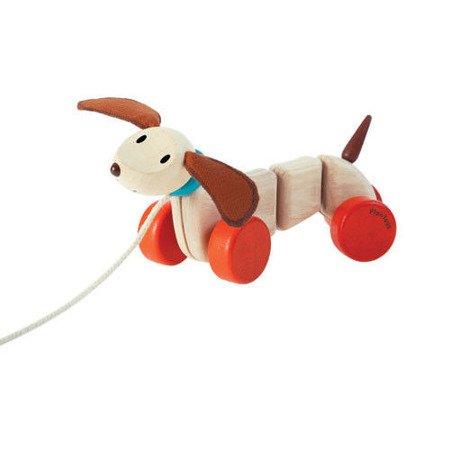 Szczęśliwy piesek do ciągnięcia, Plan Toys®