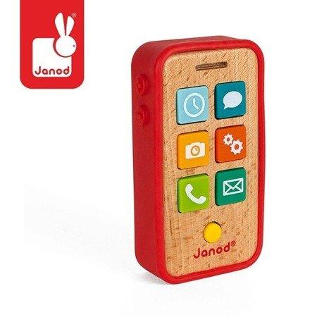 Telefon drewniany z dźwiękami, JANOD