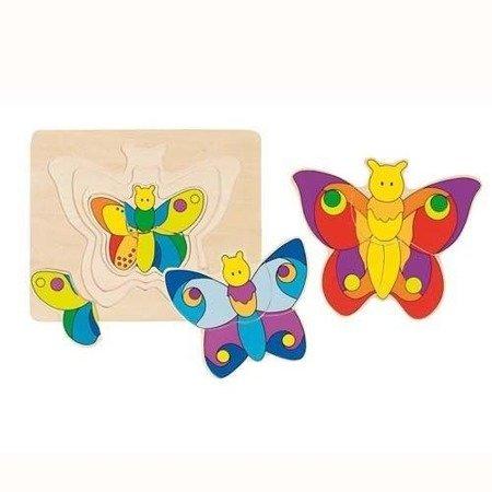 Układanka warstwowa wzór Motylki, Goki 57899