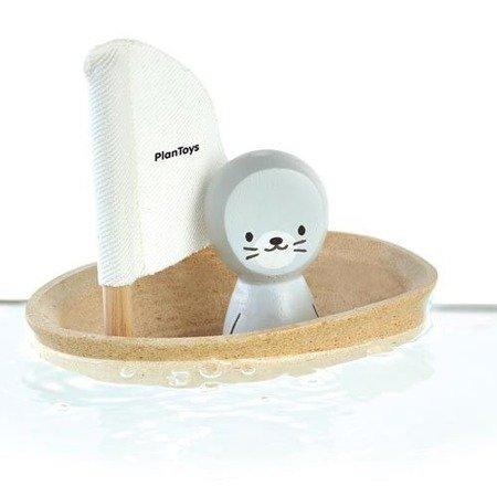 Żaglówka z foczką- zabawka do kąpieli Plan Toys PLTO-5710